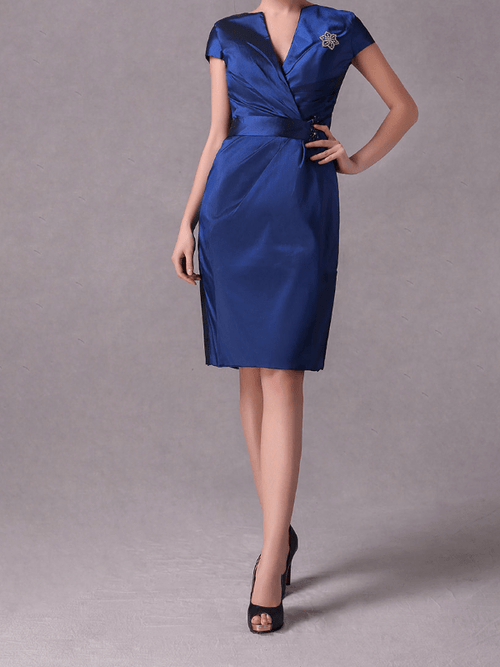 Taffeta Solid Color Plus Size Party Dresses UFD59