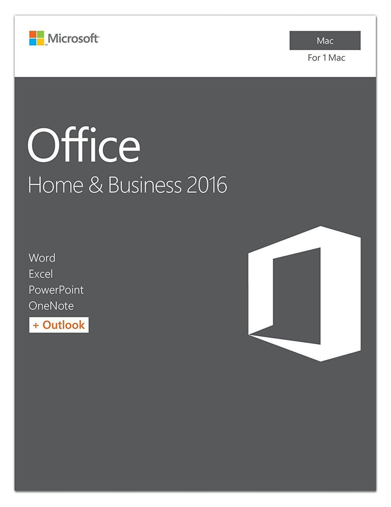 Office Home and Business 2016 for Mac | 1 user, Mac Key Card