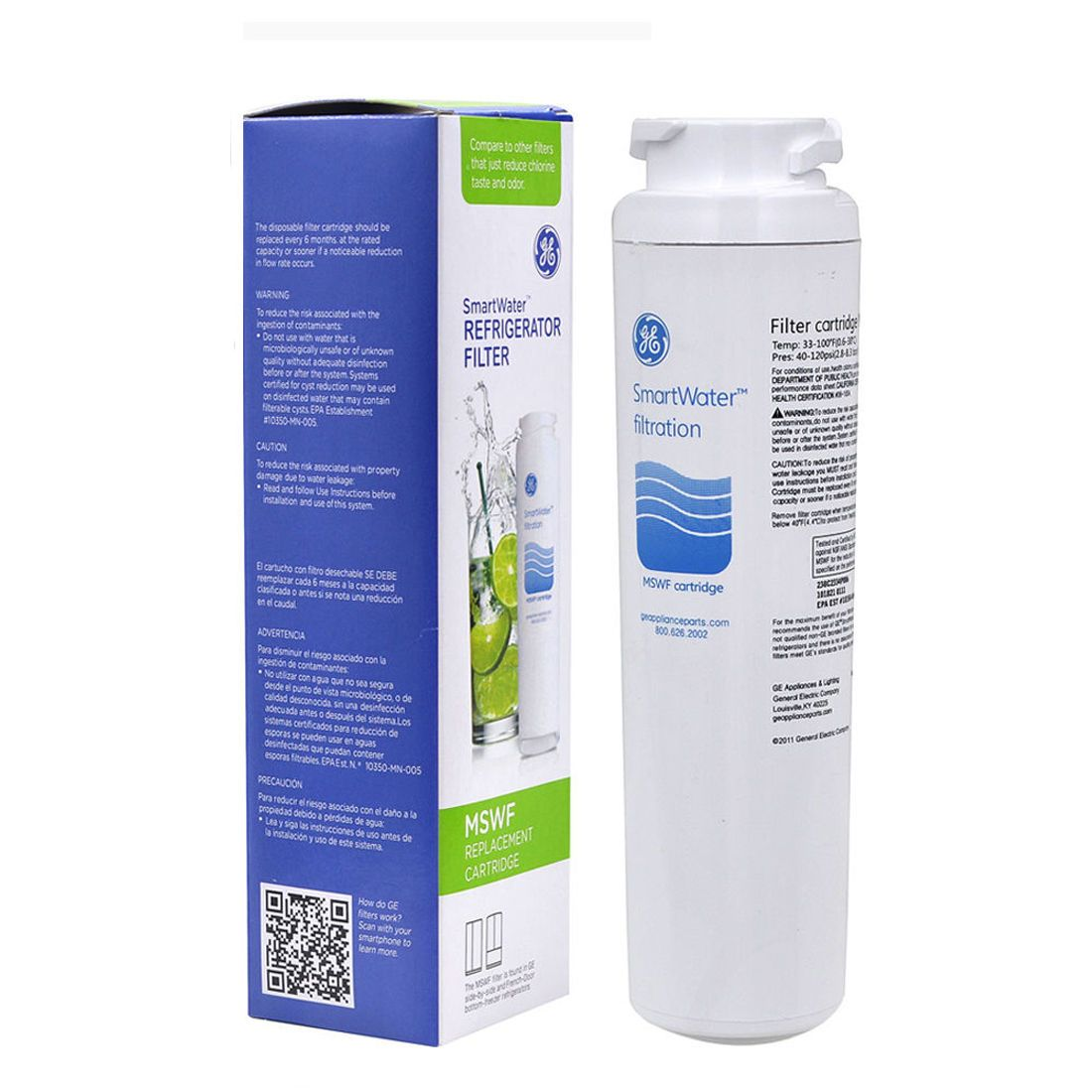 GE MSWF Refrigerator Water Filter (1-Pack)