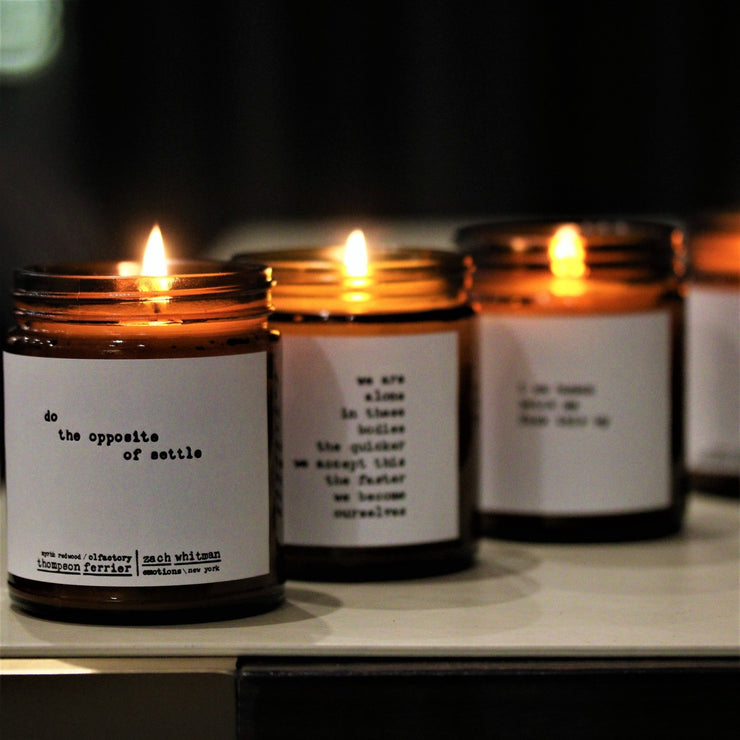 Human- Poems by Zach Whitman Candle - Orin&Oak