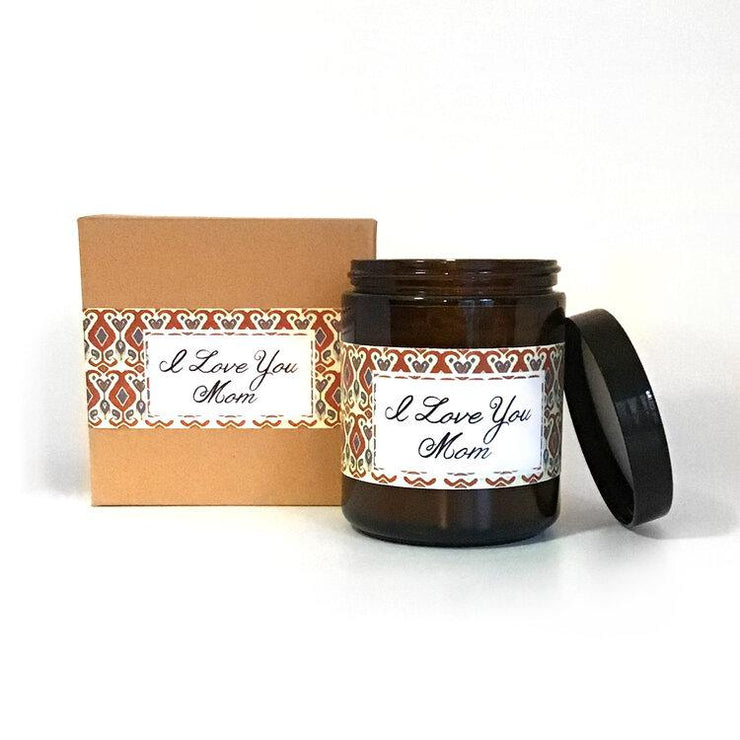 I Love You Mom Citrus + Sage Scented Soy Wax Candle - Orin&Oak
