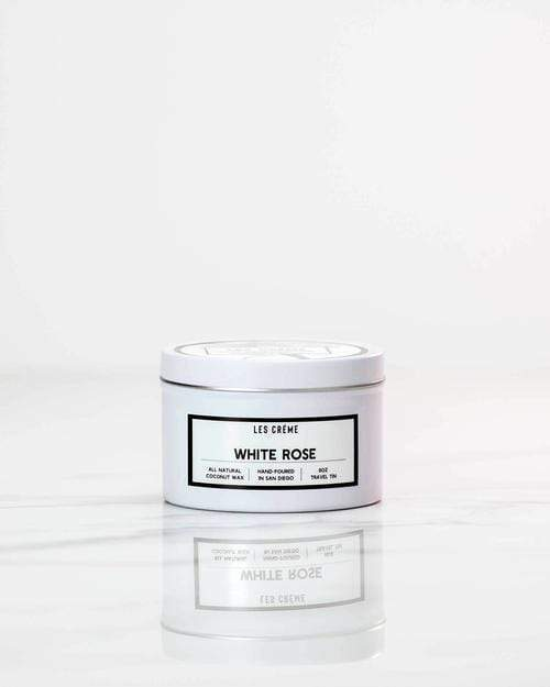 White Rose Scent Coconut Wax Candle - Orin&Oak