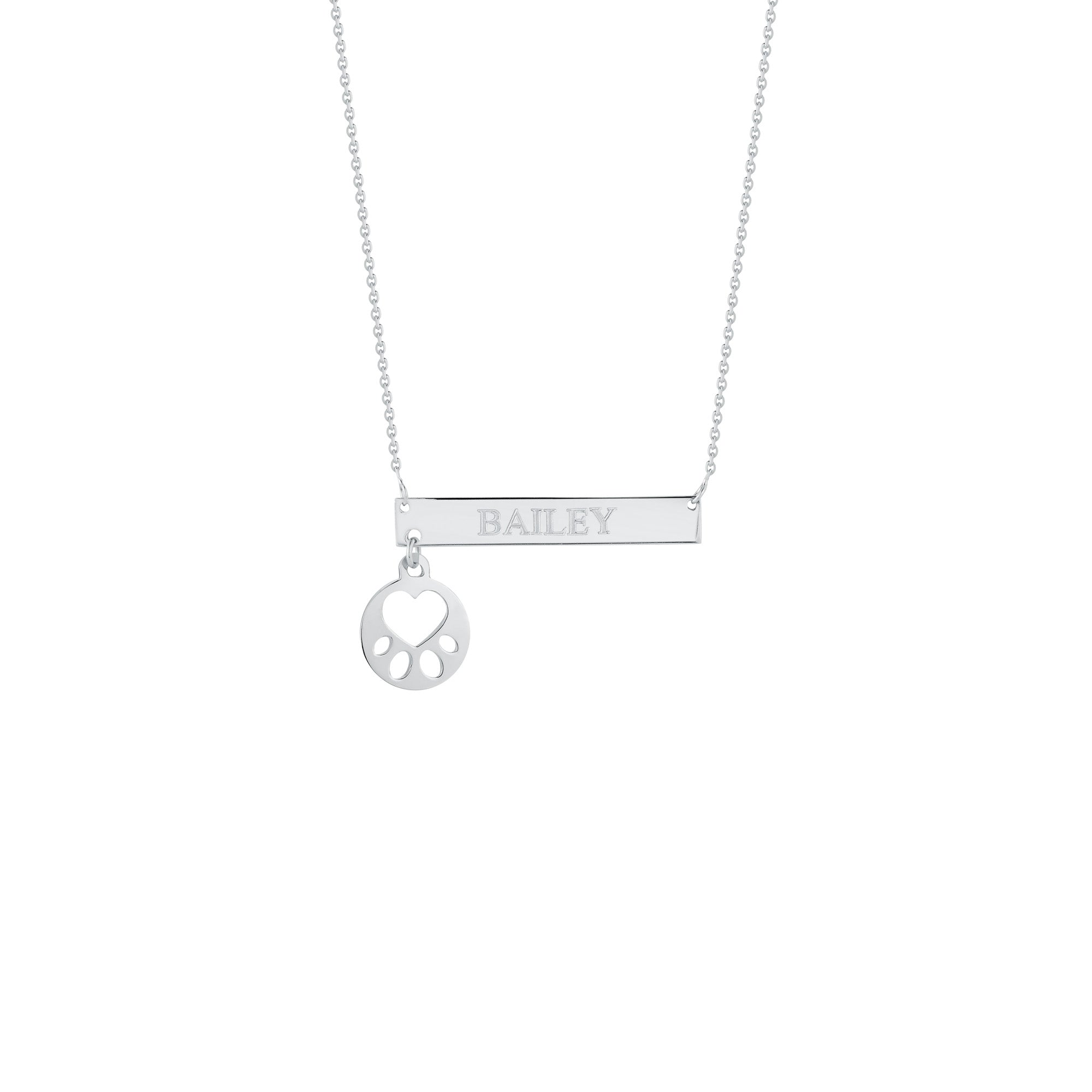 Our Cause for Paws Mini Paw Bar Necklace