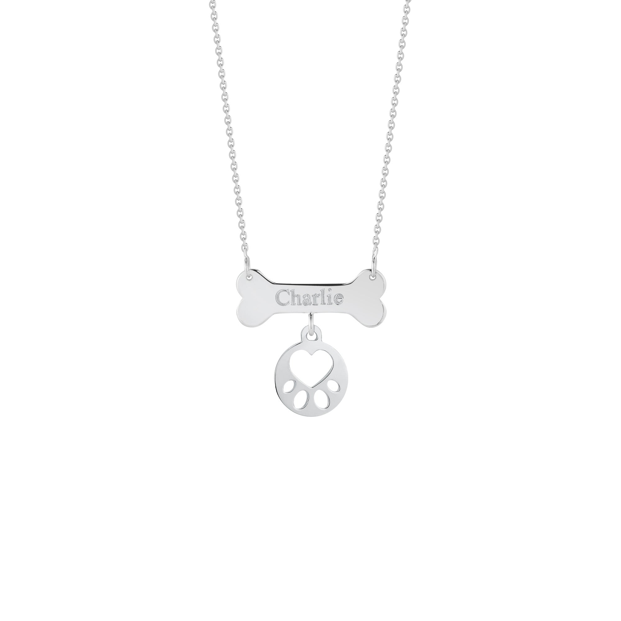 Our Cause for Paws Mini Paw Bone Necklace