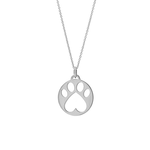 Our Cause for Paws SS Paw Charm Pendant