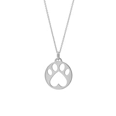 Our Cause for Paws Sterling Silver Paw Charm Pendant