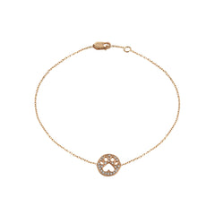 Our Cause for Paws 14k Diamond Mini Paw Bracelet