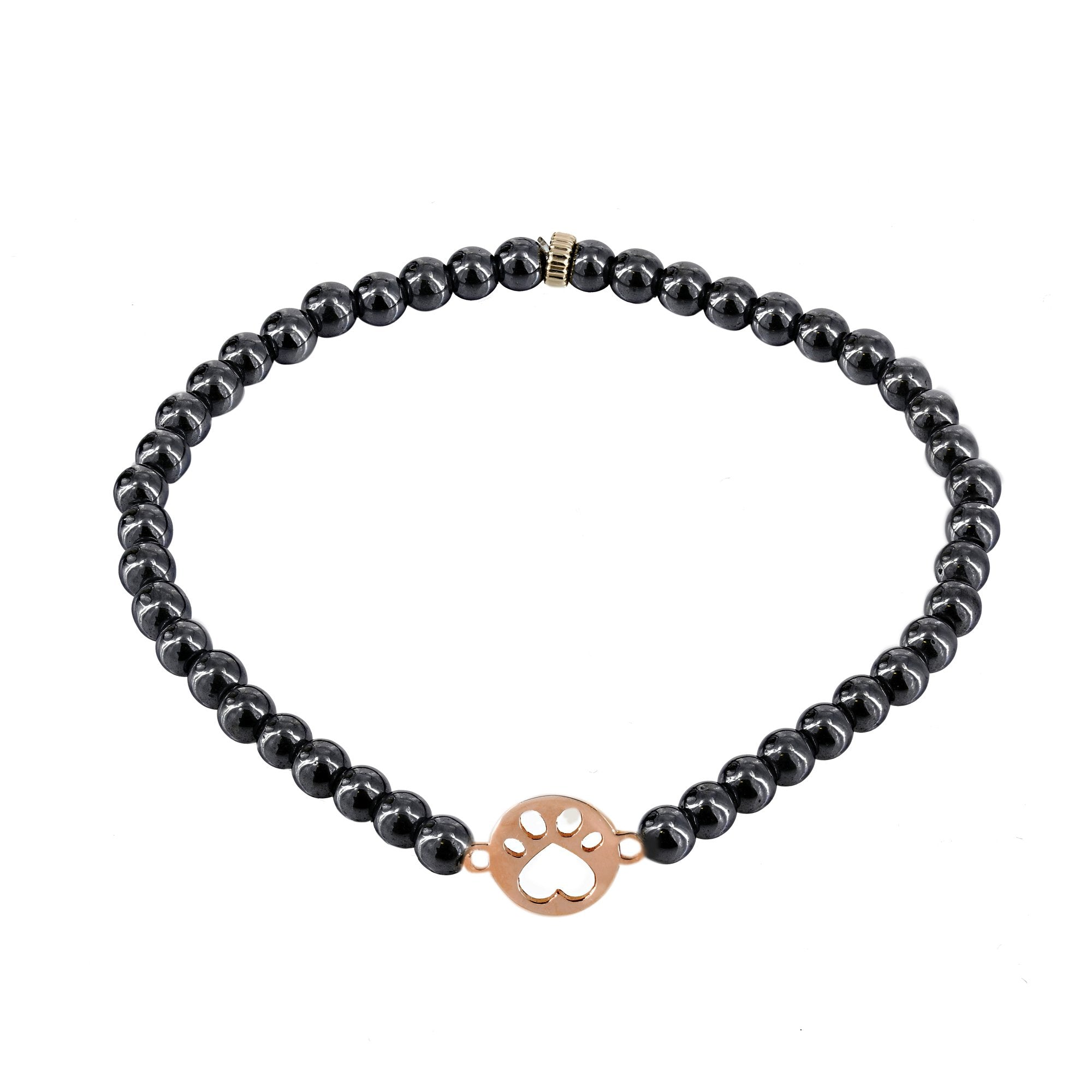 Our Cause for Paws 14k Gold Bead Bracelet