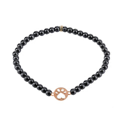 Our Cause for Paws 14k Rose Gold Bead Bracelet