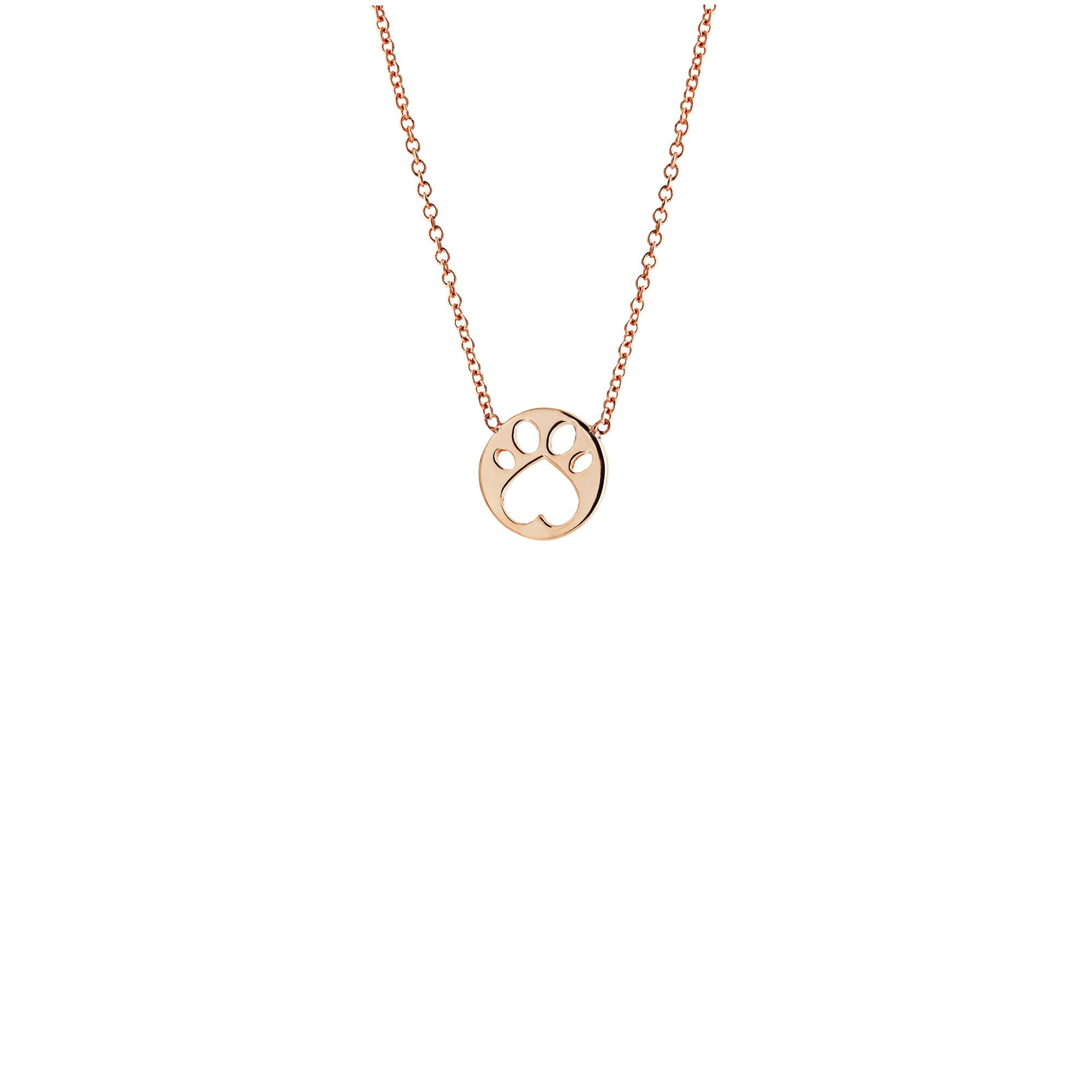 Our Cause for Paws 17inch Mini Paw Pendant Necklace