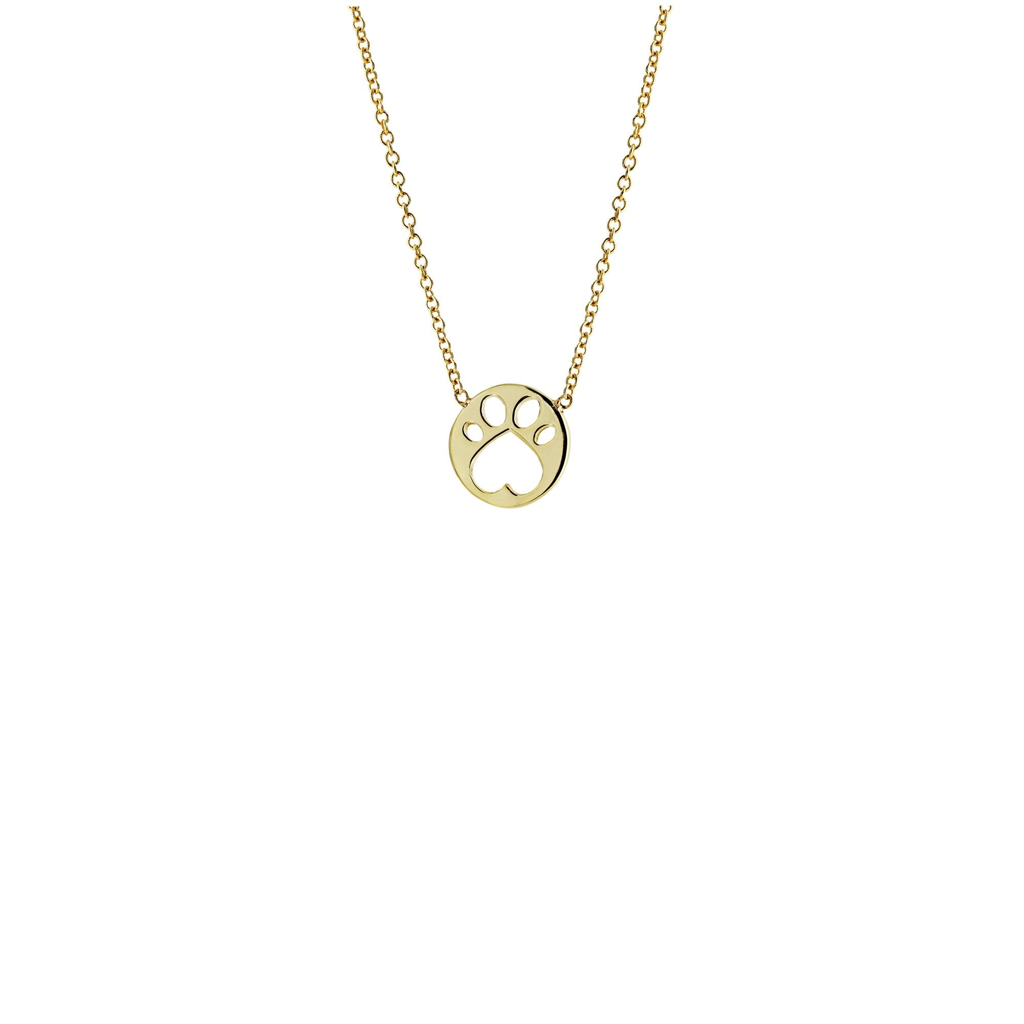 Our Cause for Paws Mini Paw Pendant 17inch Necklace