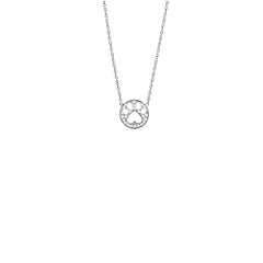 Our Cause for Paws 14k Gold Diamond Mini Paw Pendant Necklace