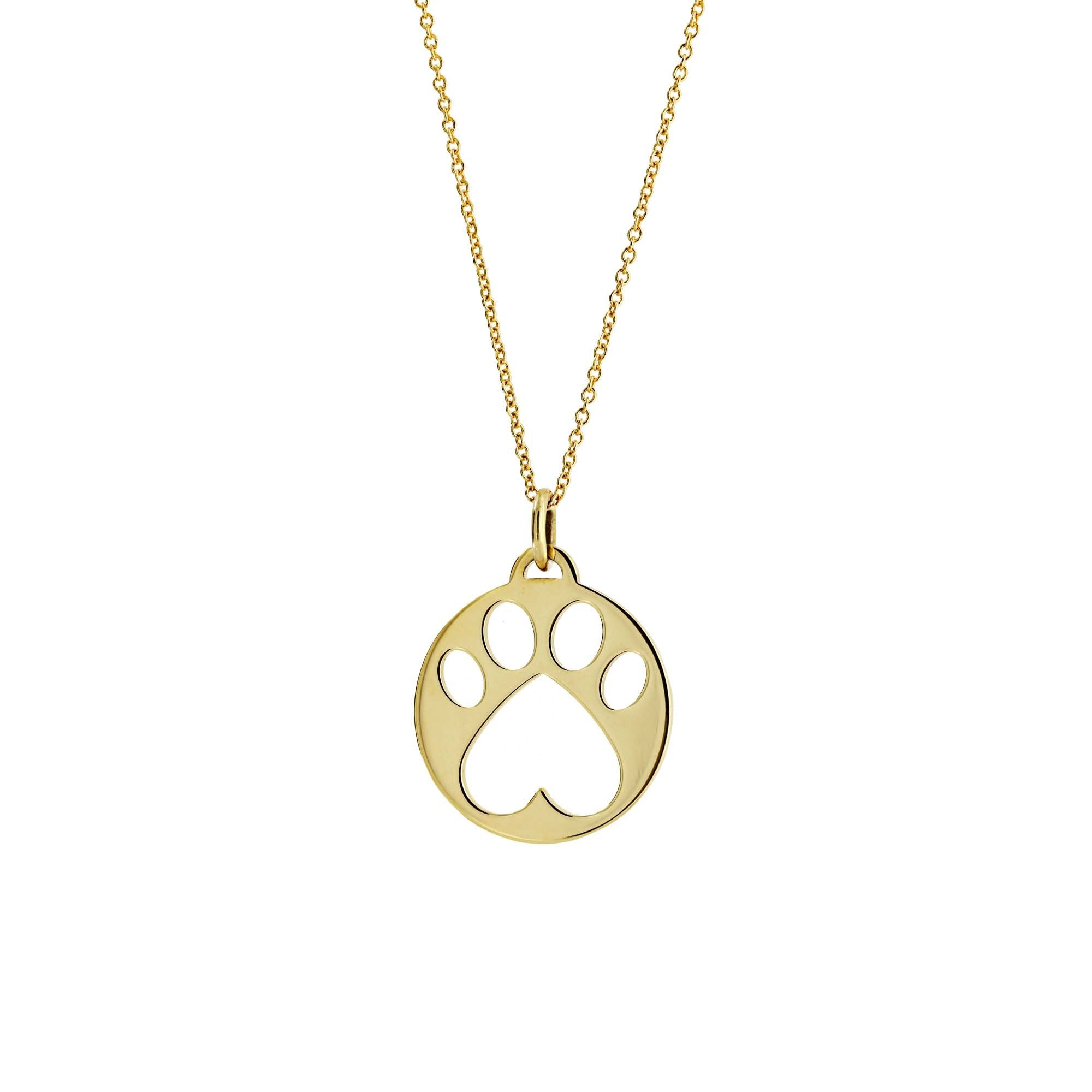 Our Cause for Paws Yellow Gold Paw Charm Pendant