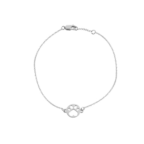 Our Cause for Paws 9mm Mini Paw Chain Bracelet