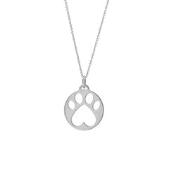 Our Cause for Paws Silver Paw Charm Pendant