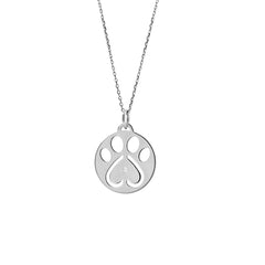 Our Cause for Paws Sterling Silver Paw Charm with Pendant