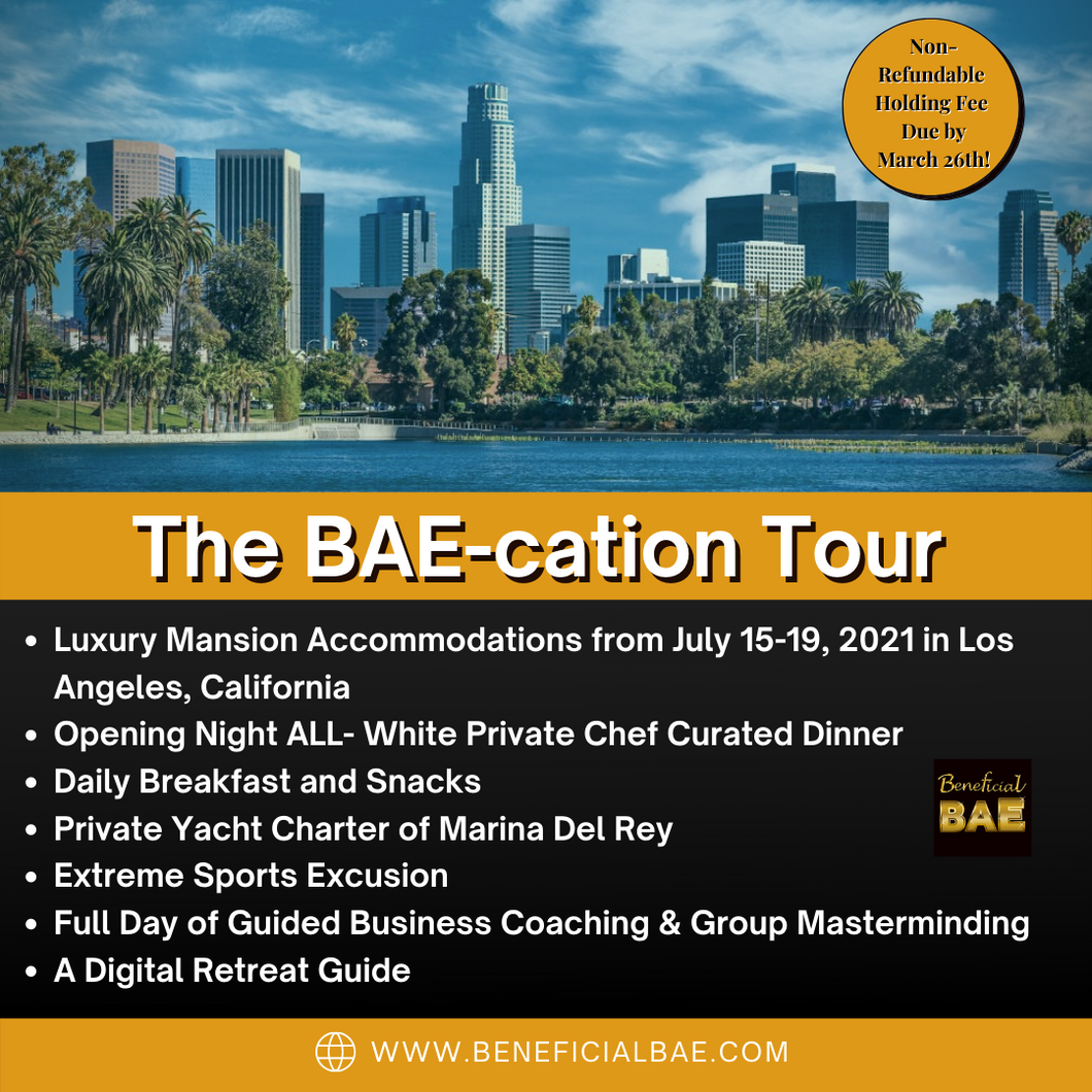 BAE-cation Tour Los Angeles FULL PAYMENT