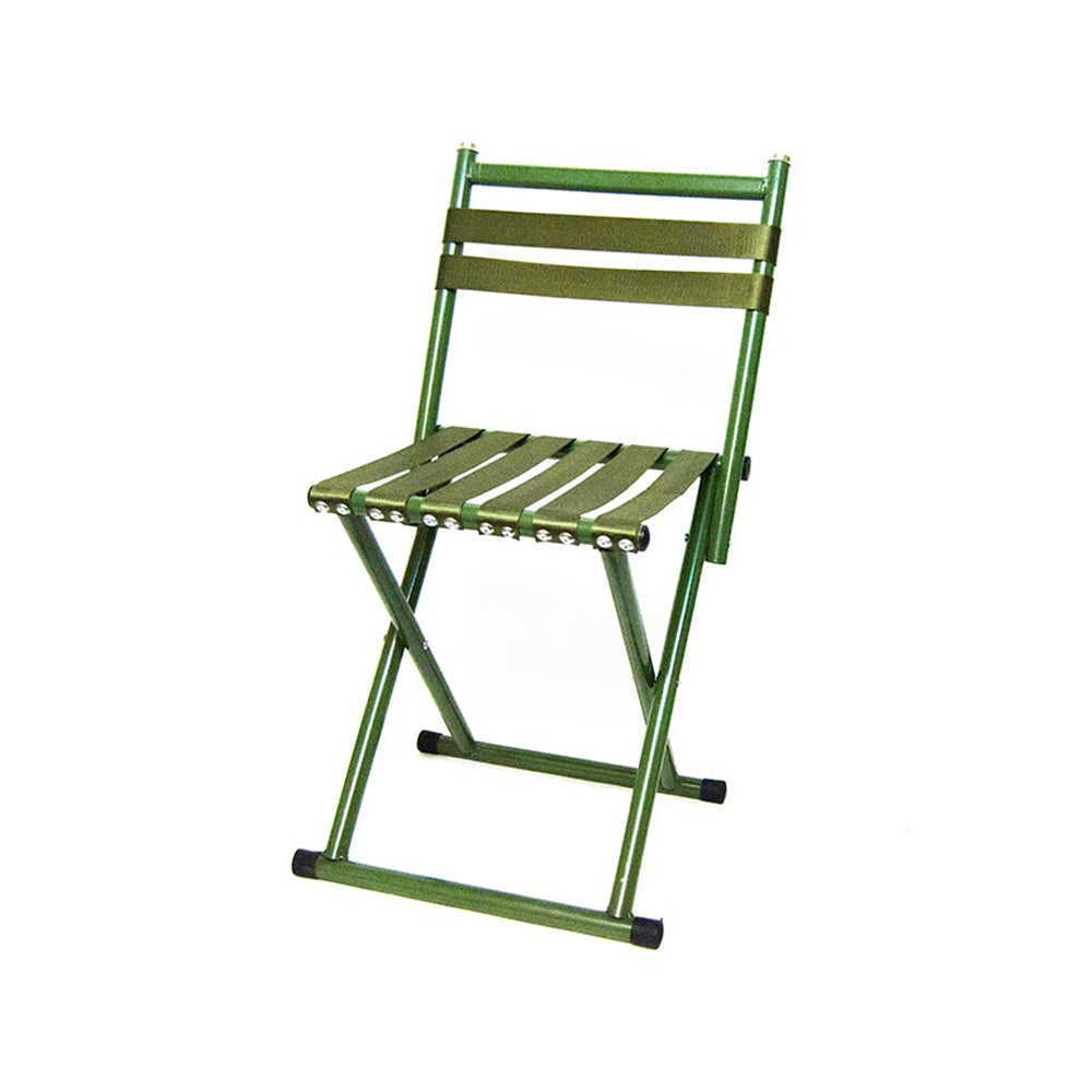 Portable Folding Stool Heavy Duty Chair with Backrest