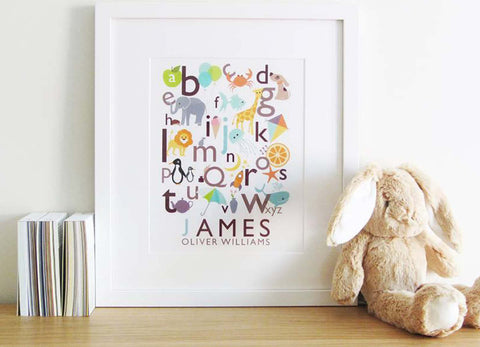 Personalised Children's Alphabet Prints