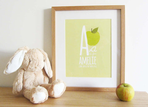 Personalised Children's Initial Prints