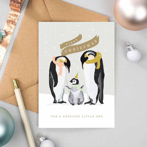 Baby's First Christmas Polar Parade Card