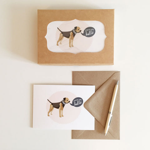 Border Terrier Notecards