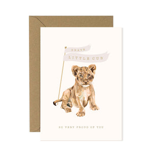 Brave Little Cub Card