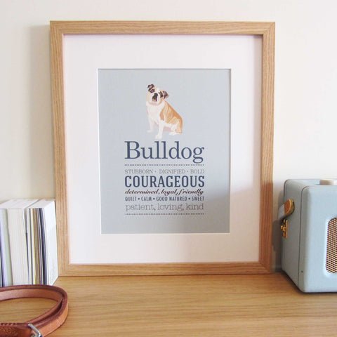 Bulldog Dog Breed Print