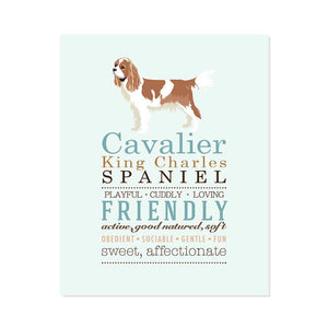 Cavalier King Charles Spaniel Dog Breed Print