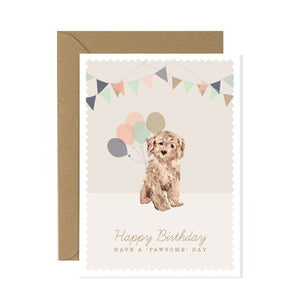 Cavapoo Birthday Card