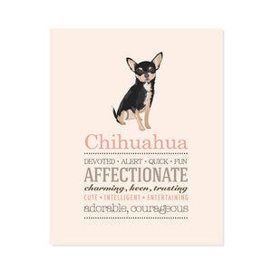 Chihuahua Dog Breed Print