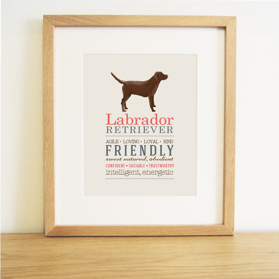 Labrador Dog Breed Print