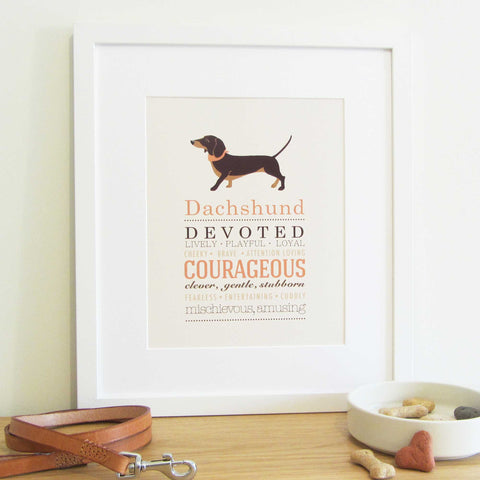 Dachshund Dog Breed Print