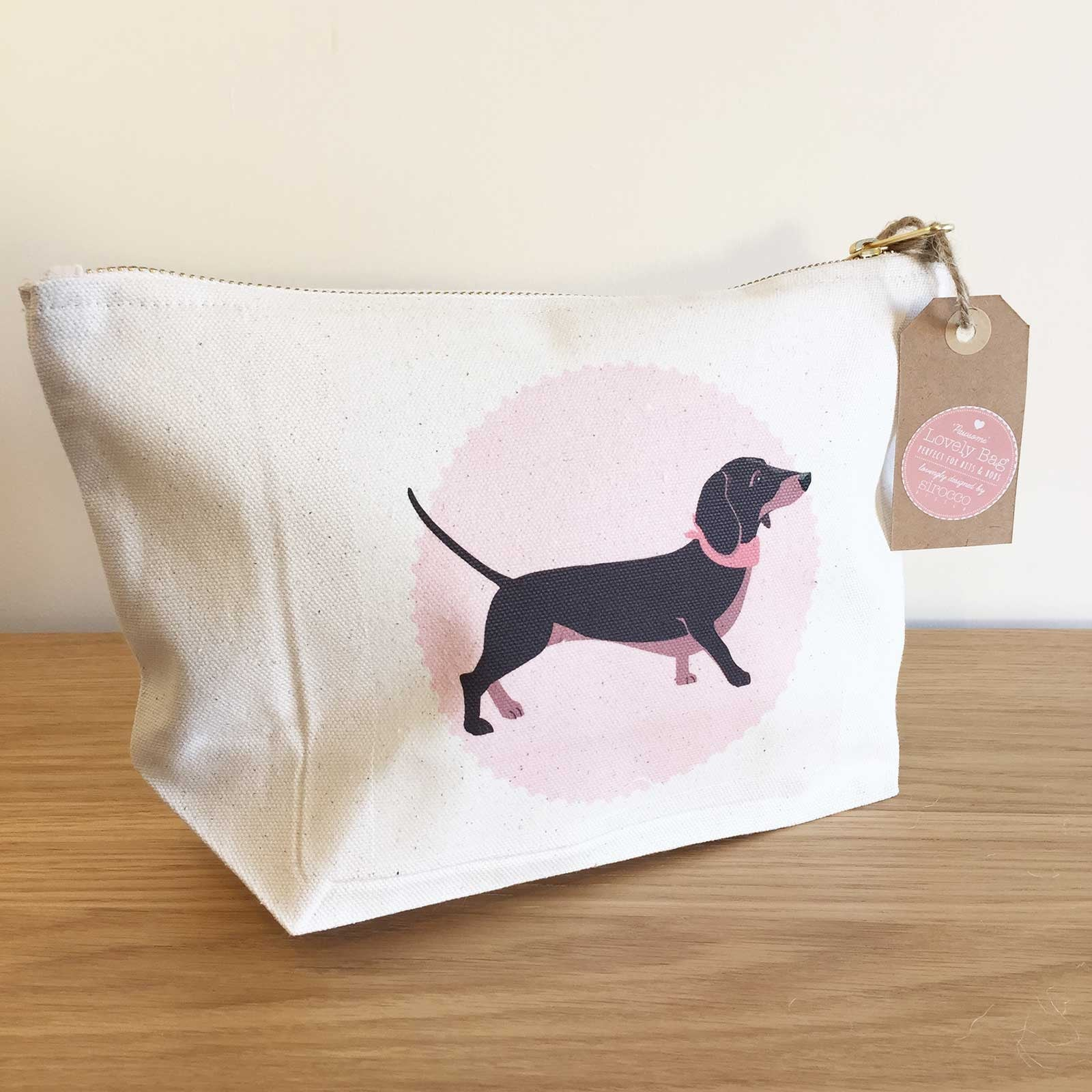 Dachshund Zip Bag