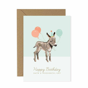 Donkey Birthday Card