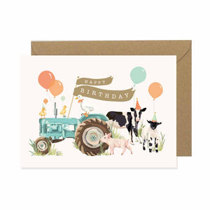 Farmyard Fiesta Happy Birthday Card