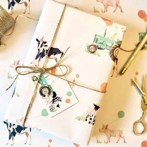 Farmyard Animals Wrapping Paper