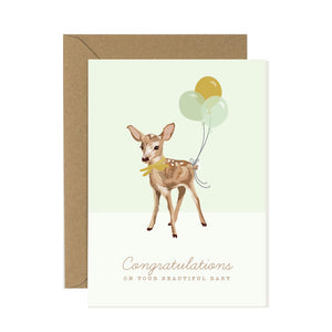 Fawn New Baby Card