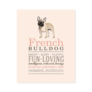 French Bulldog Dog Breed Print