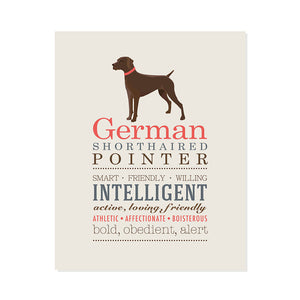 German Pointer Dog Breed Print