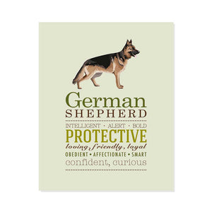 German Shepherd Dog Breed Print