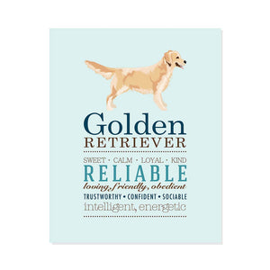 Golden Retriever Dog Breed Print
