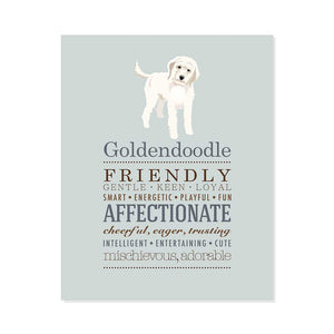 Goldendoodle Dog Breed Print