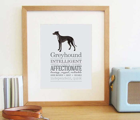 Greyhound Dog Breed Print