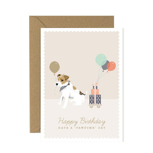 Jack Russell Happy Birthday Card