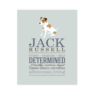 Jack Russell Dog Breed Print