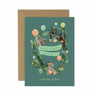 Wild Jungle Birthday Card