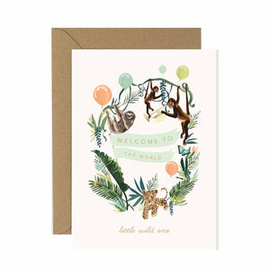 New Baby Jungle Animals Card