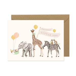 New Baby Safari Animals Card