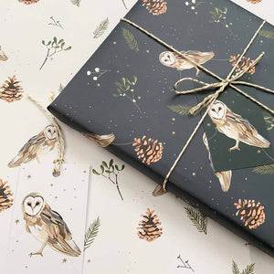 Owl & Stars Wrapping Paper